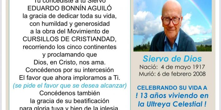 Oremos por la Beatificación de Eduardo Bonnín este 6 de Febrero